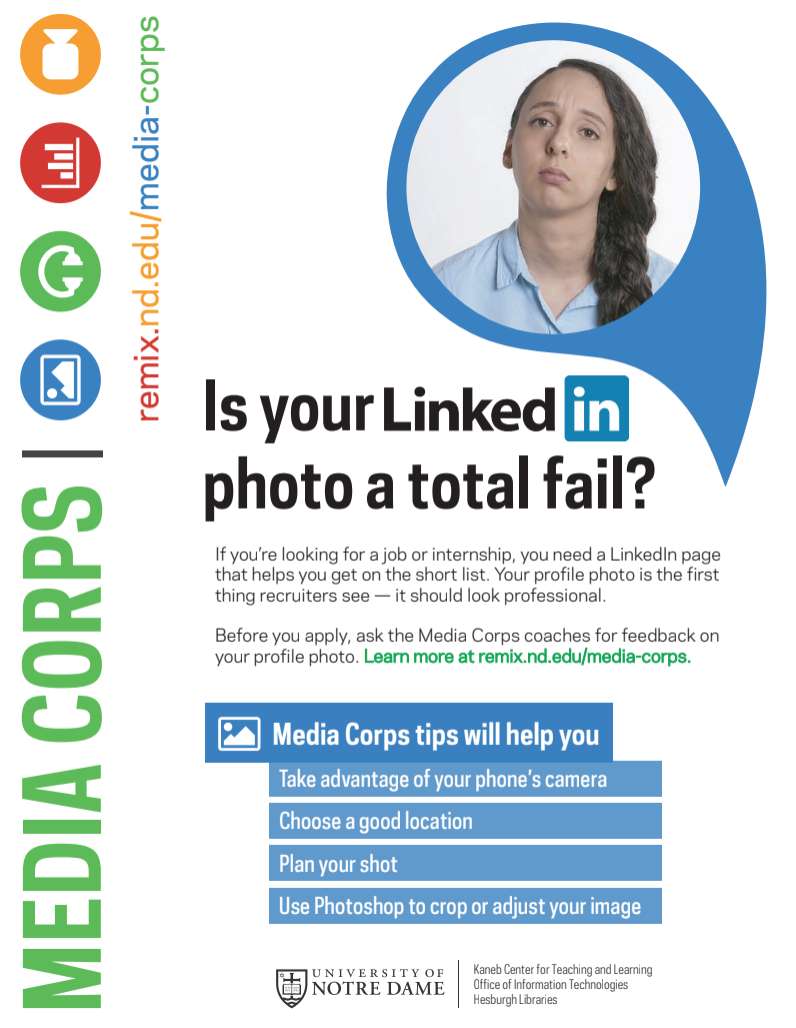 link to flyer for LinkedIn head shot creation -- featured service